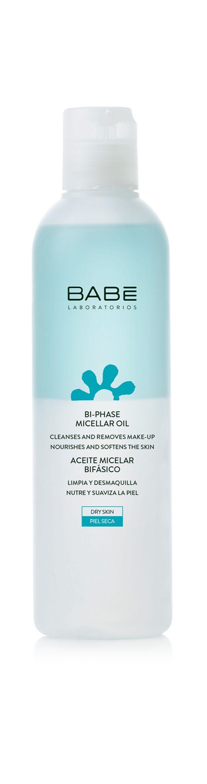 Aceite Micelar Bifásico, de Babé (12 euros). Su fórmula incluye aceite de algodón y de caléndula.