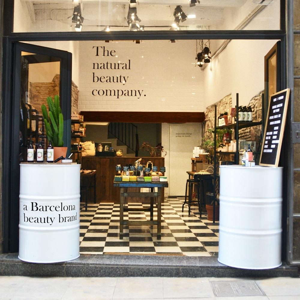Una de las tiendas de Kriim Natural Cosmetics en Barcelona.