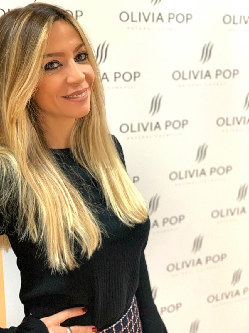 Laura Arredondo, fundadora de la marca de cosmética natural Olivia...