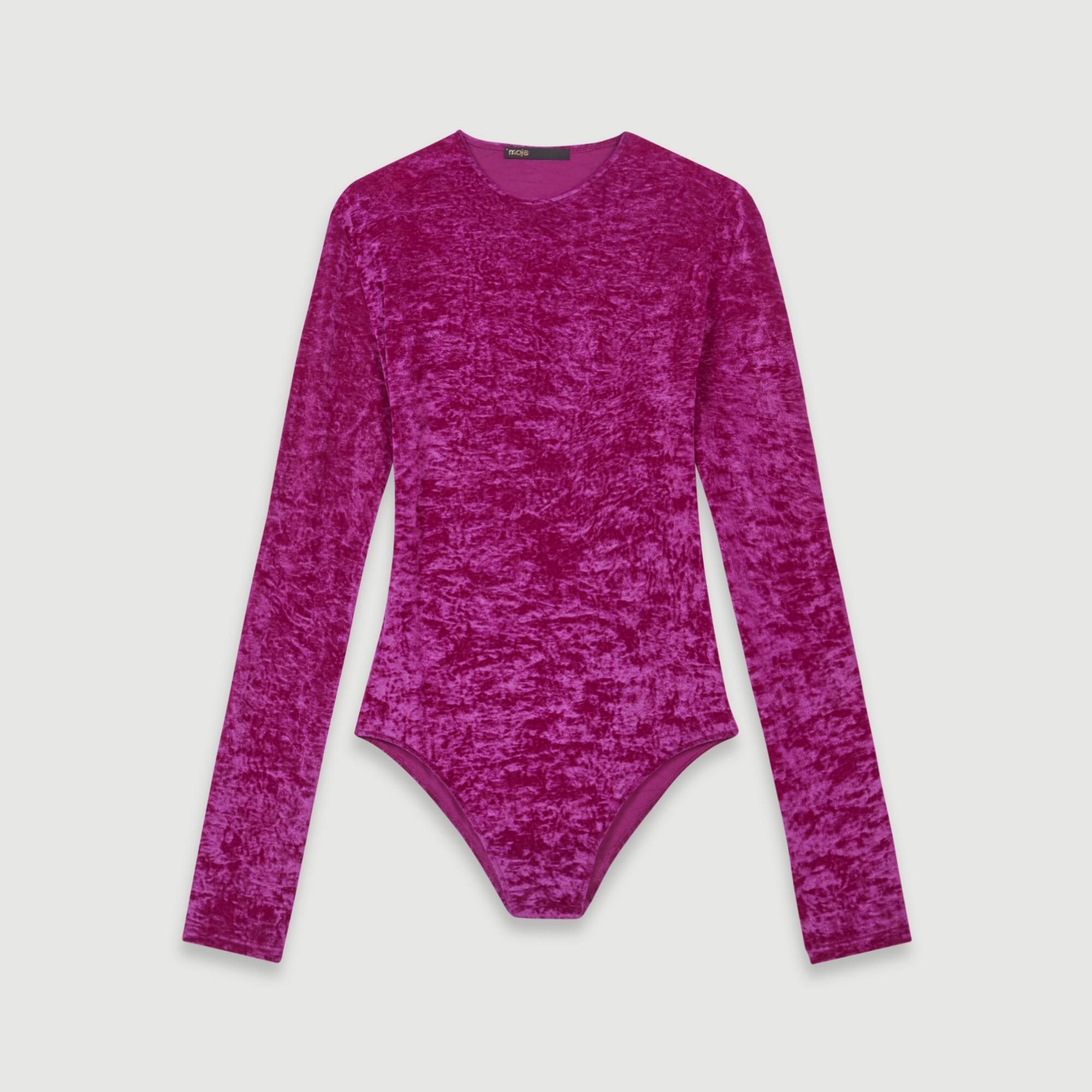 Body de terciopelo en color rosa de Maje (150¤)
