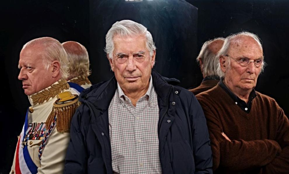 Mario Vargas Llosa, Carlos Saura y Juan Echanove, escritor, director...