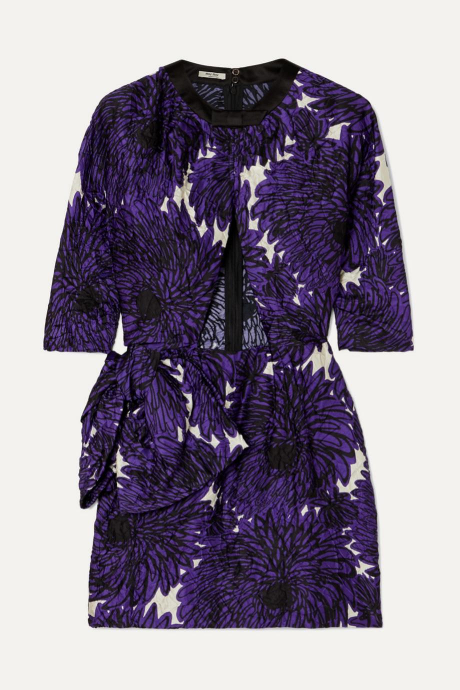 Vestido estampado con cut outs de Miu Miu para Net a porter (c.p.v)