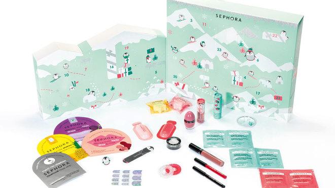El divertido calendario de Sephora contiene tratamiento, maquillaje,...