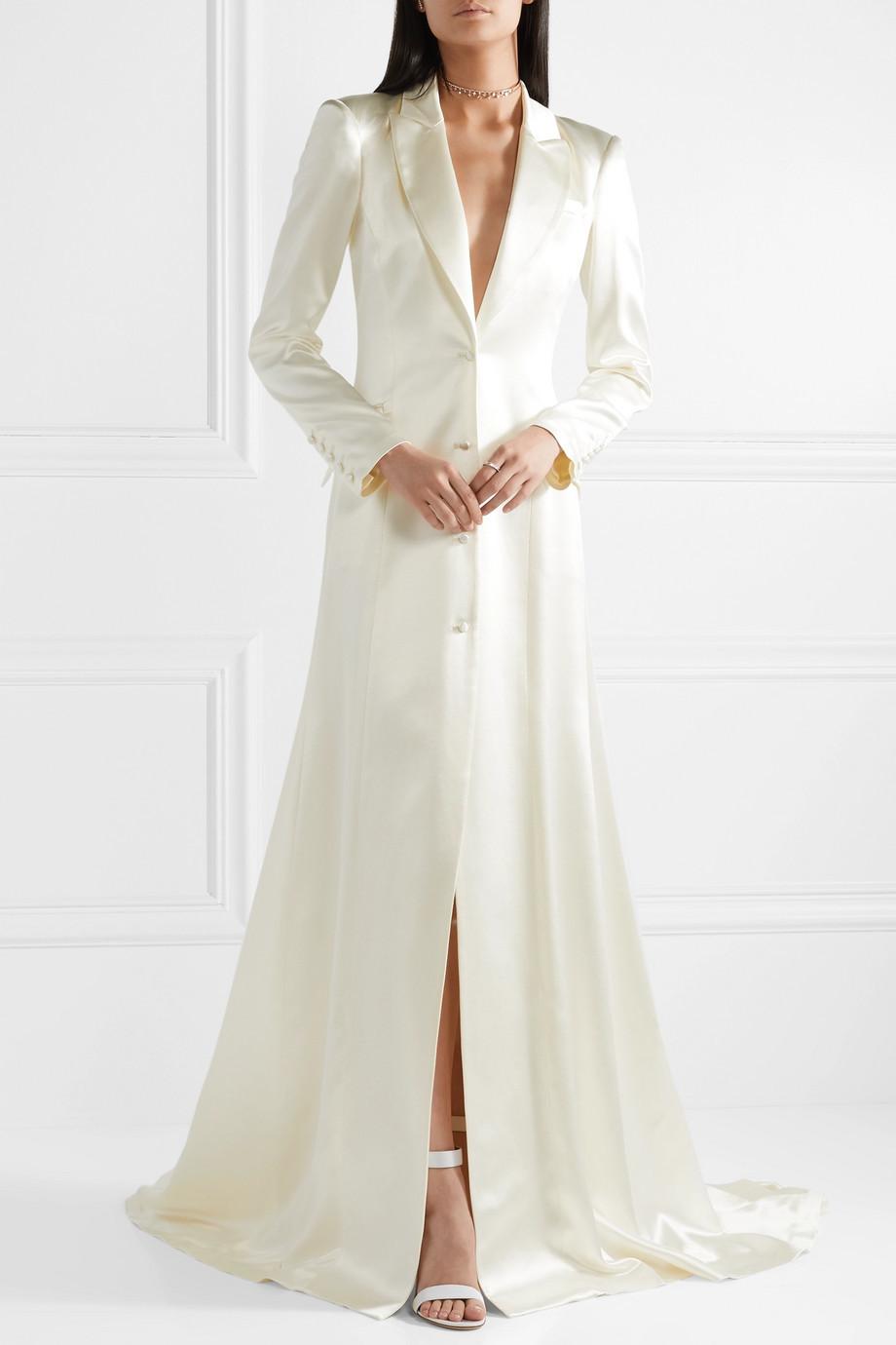 Vestido tipo abrigo, de Danielle Frankel.