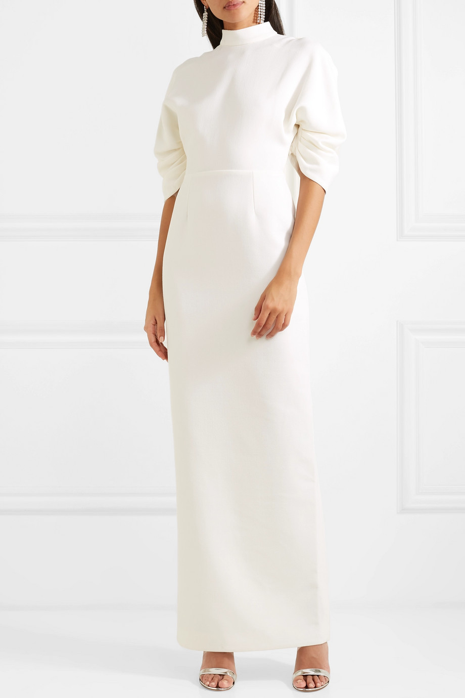 Vestido de mangas abullonadas, de Emilia Wickstead.