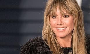 Heidi Klum es el ejemplo de cómo puede quedar un flequillo cortina y...