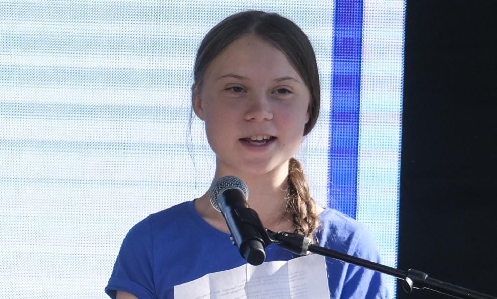 Greta Thunberg, durante uno de sus discursos en la huelga juvenil de...