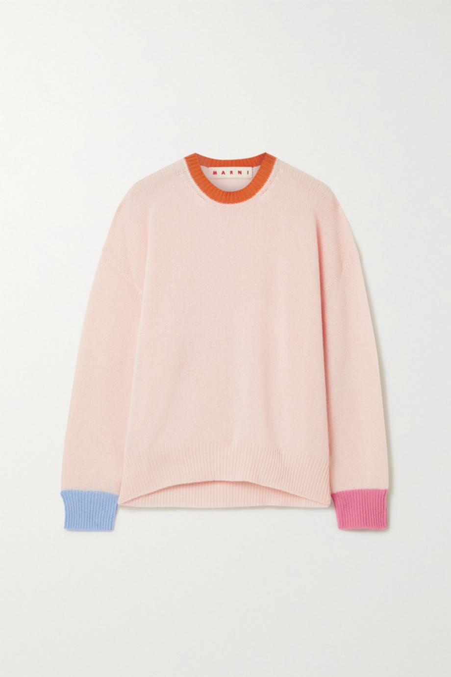 Jersey de cashmere multicolor de Marni