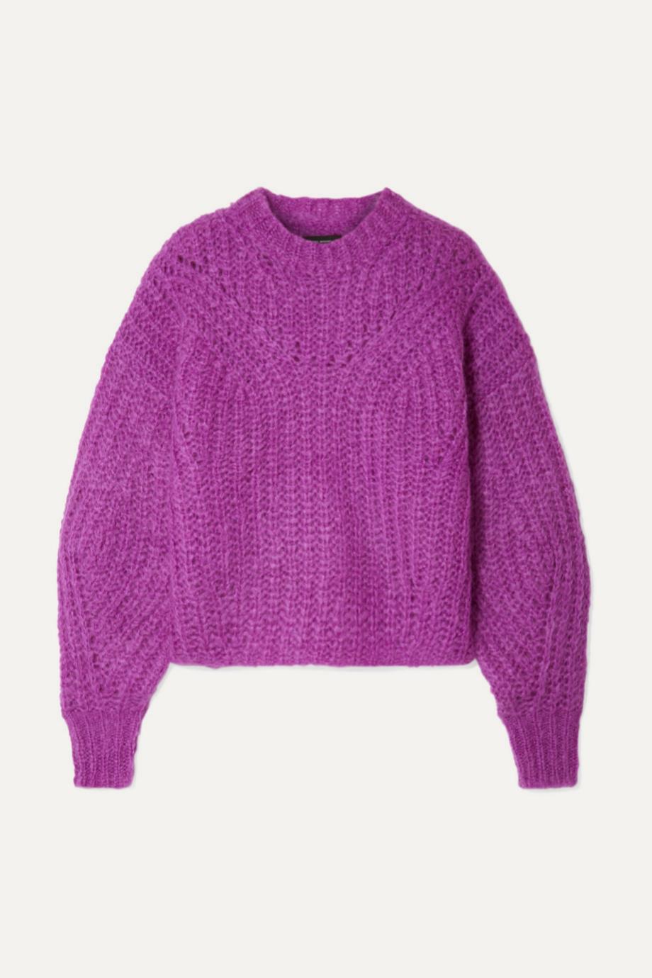 Jersey de mohair en color morado de Isabel Marant