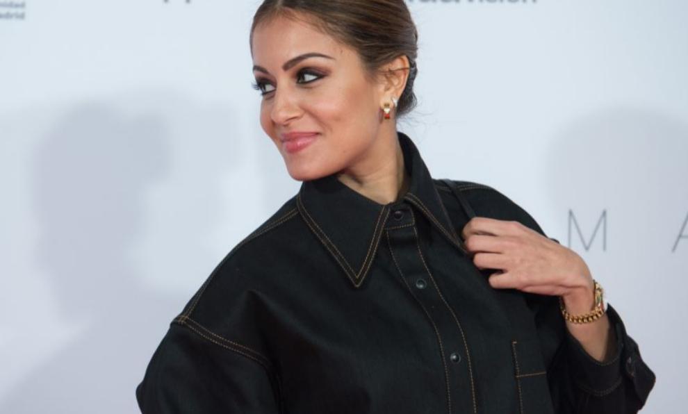 """Hiba Abouk durante la presentación de la película """"Madre""""."""