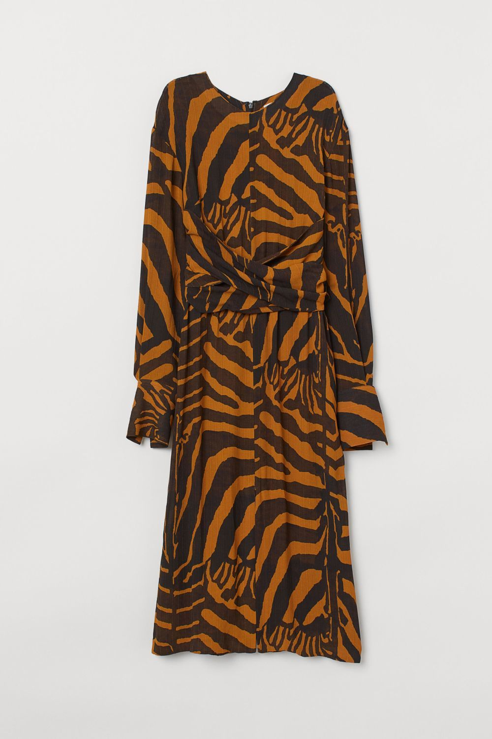 Vestido con estampado animal print, H