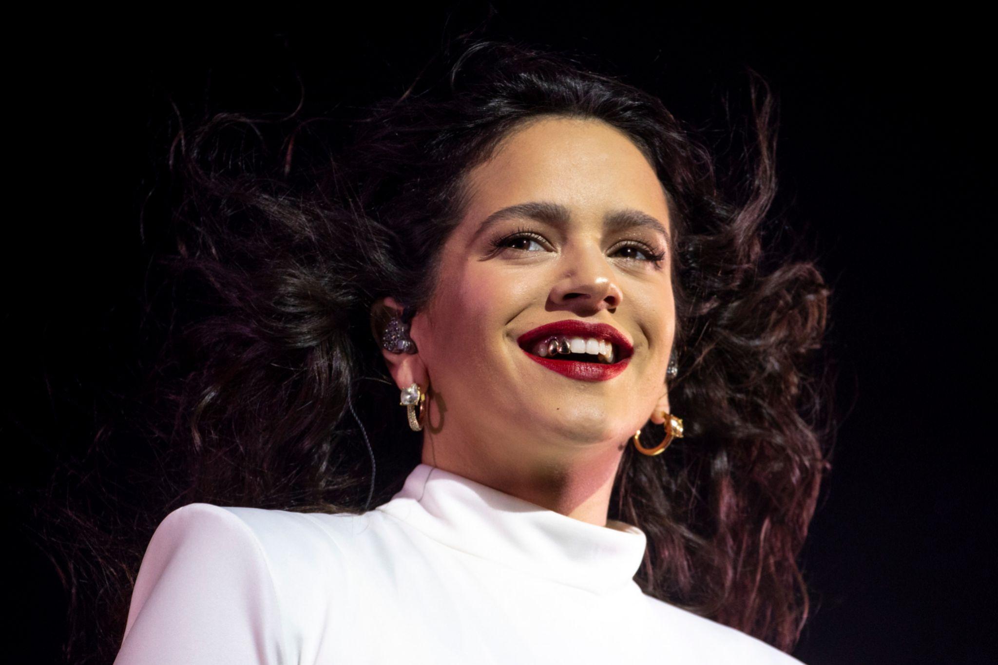 Rosalía durante su concierto en Madrid el 10 de diciembre 2019