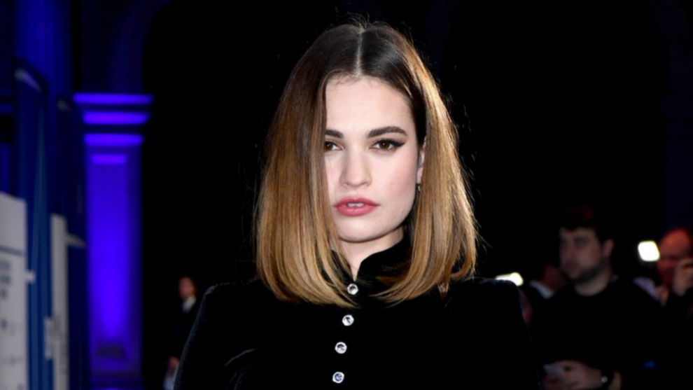 Lily James luce uno de los colores de pelo toasted ombré para...