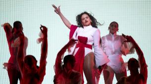 """Rosalía, durante su concierto de fin de gira de """"El Mal Querer"""" en..."""