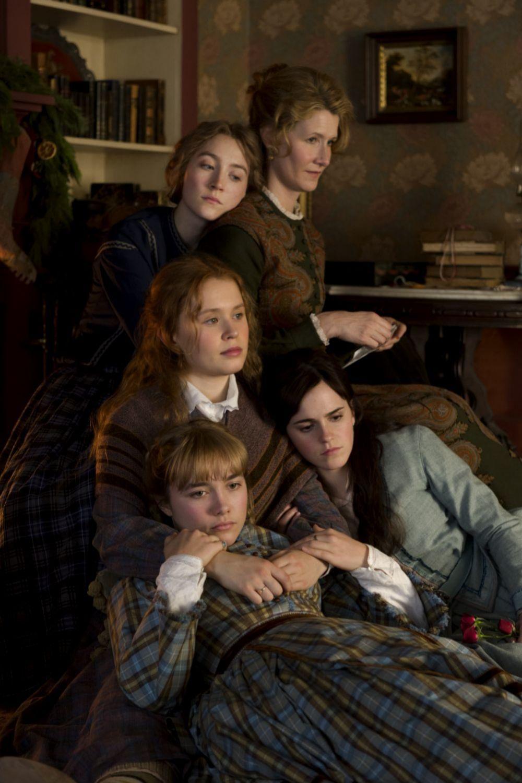 Emma Watson, Saoirse Ronan, Florence Pugh, Eliza Scanlen y Laura Dern en Mujercitas