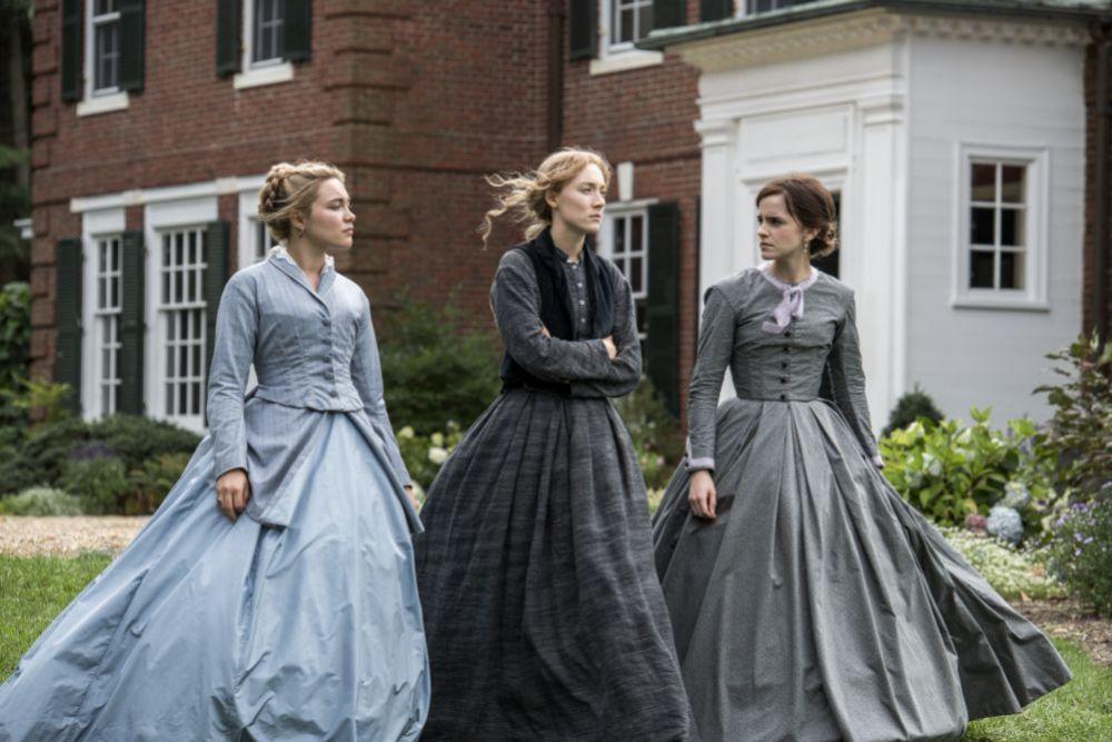 Florence Plugh, Saoirse Ronan y Emma Watson en Mujercitas