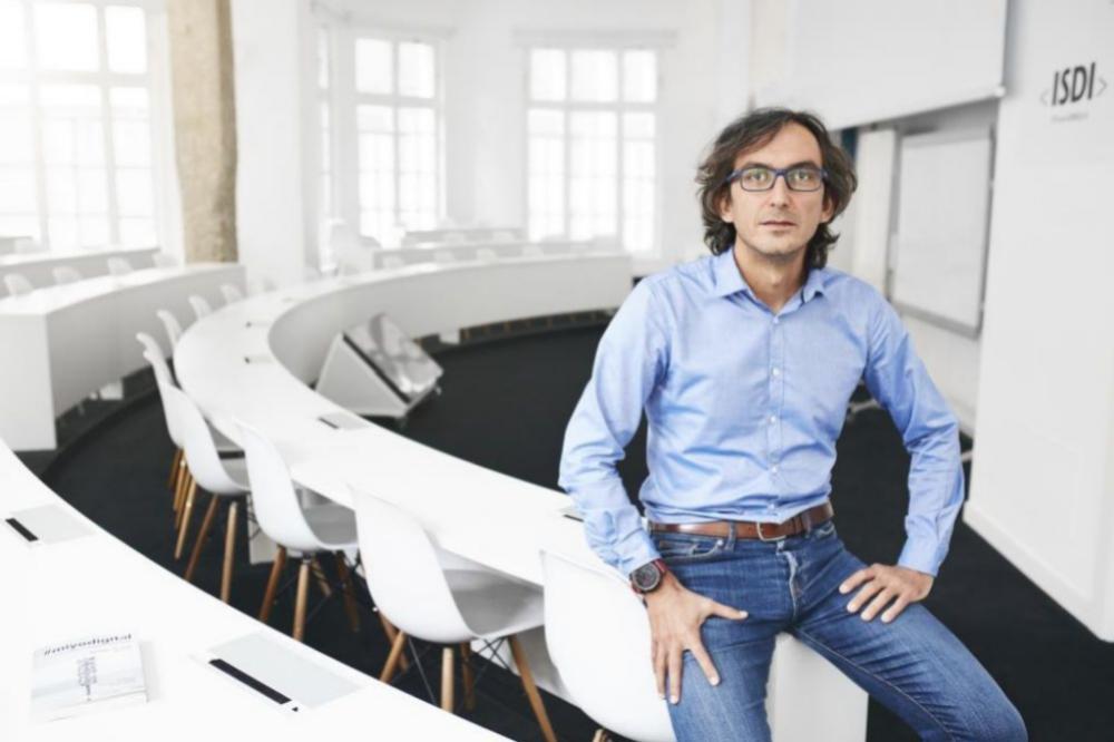 Rodrigo Miranda en la sede de ISDI en Madrid.