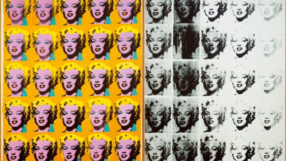 Díptico de Marylin 1962 de Andy Warhol, en la Tate Modern de Londres.