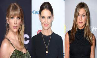 Taylor Swift, Katie Holmes y Jennifer Aniston.