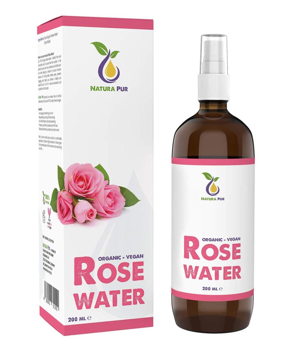 Agua de Rosas natural de Natura Pur (15,95 euros en Amazon). 100%...
