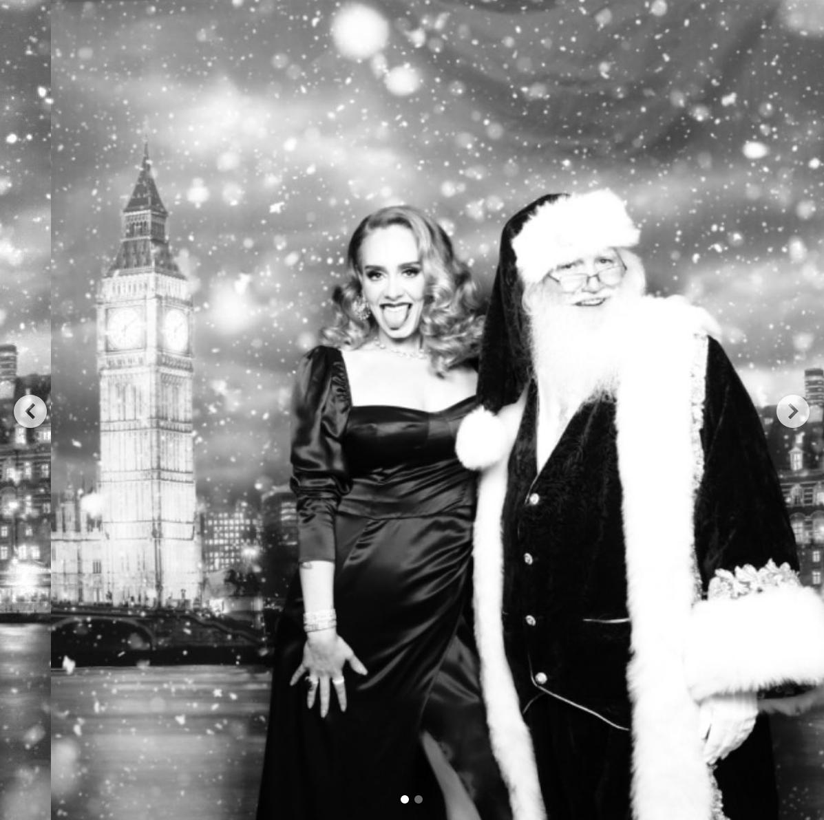 La felicitación de Navidad de Adele.