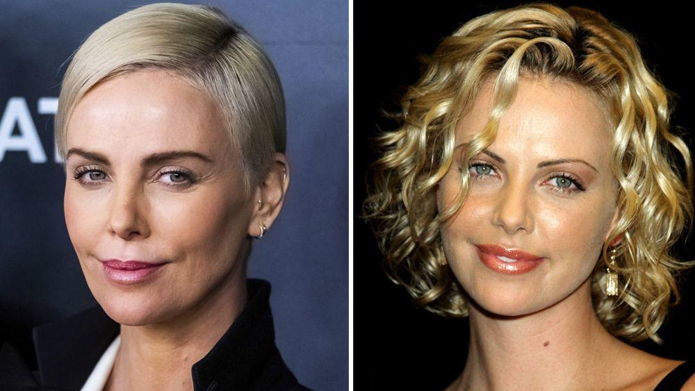 """A la izquierda, Charlize Theron en el estreno de """"Bombshell"""" hace unas semanas y a la derecha, la actriz en la 5ª Edición del Festival de Cine de Hollywood en 2001. ES"""