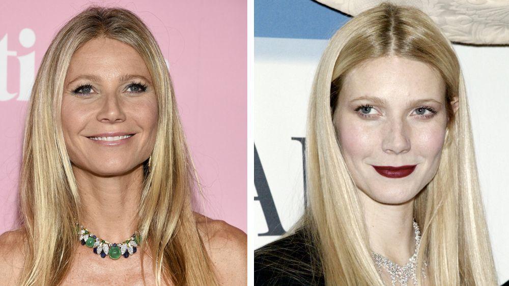 """A la izquierda, Gwyneth Paltrow en el estreno de la serie """"The Politician"""" en Nueva York este año y a la derecha, la actriz en 2007 posando para la campaña de la firma Damiani."""