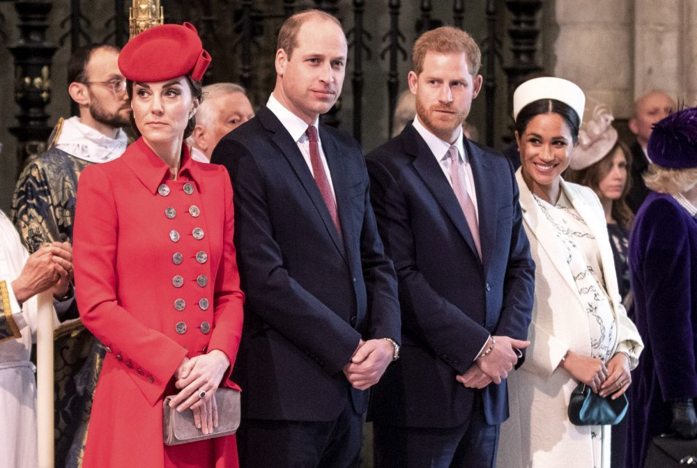 Los duques de Cambridge y los de Sussex.