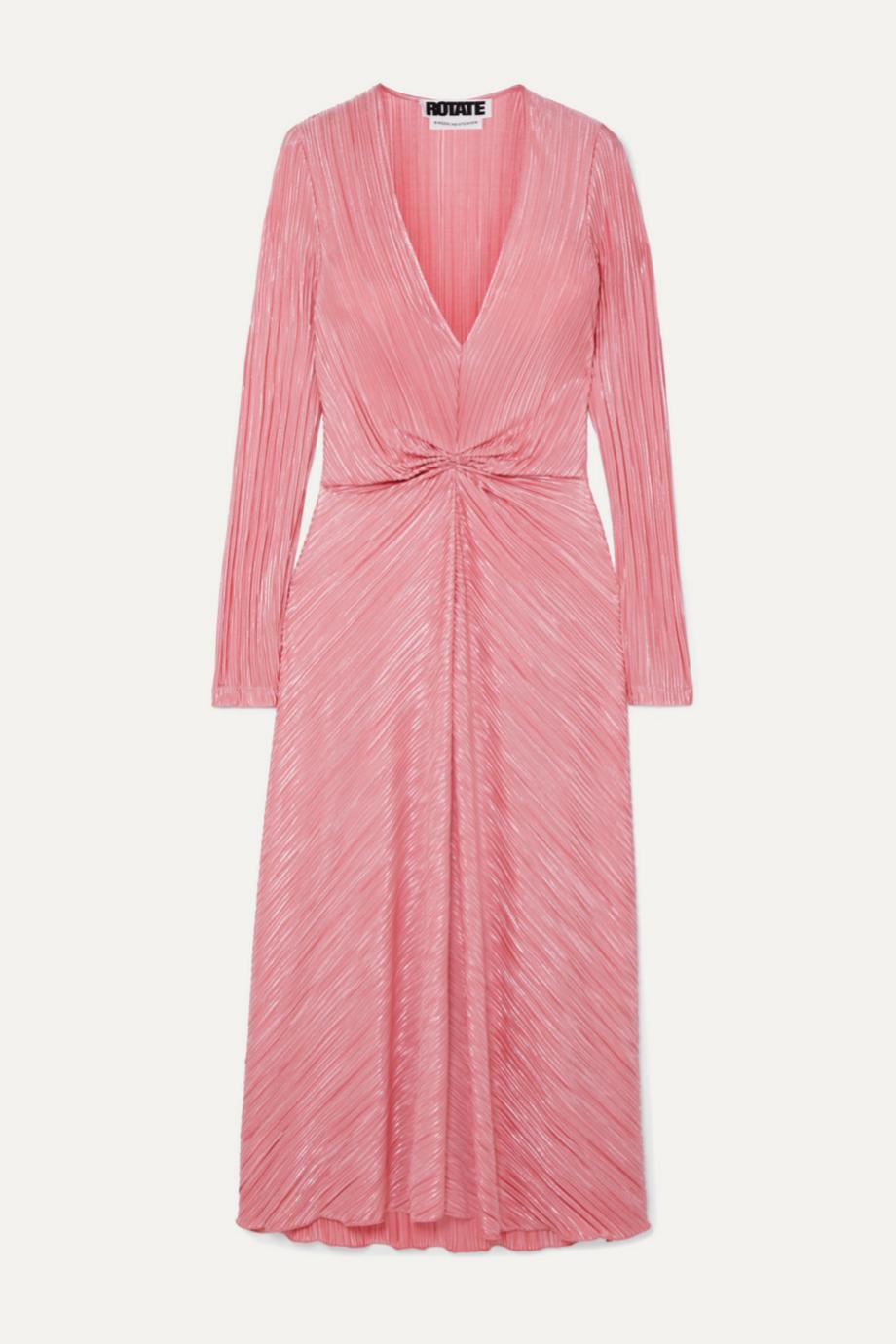 Vestido rosa con hilo metalizado de Rotate Birger Christensen para Net a porter (140¤)