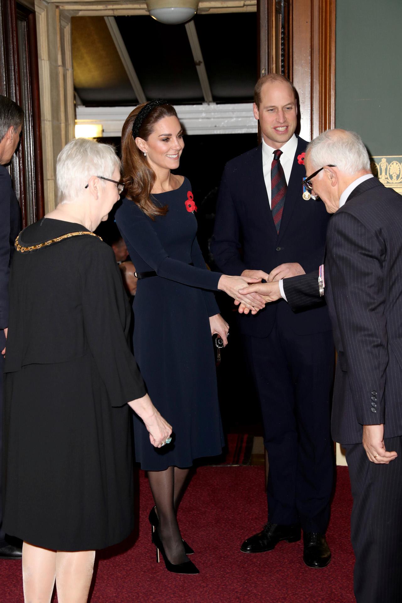Los duques de Cambridge en el  Royal Albert Hall de Londres.