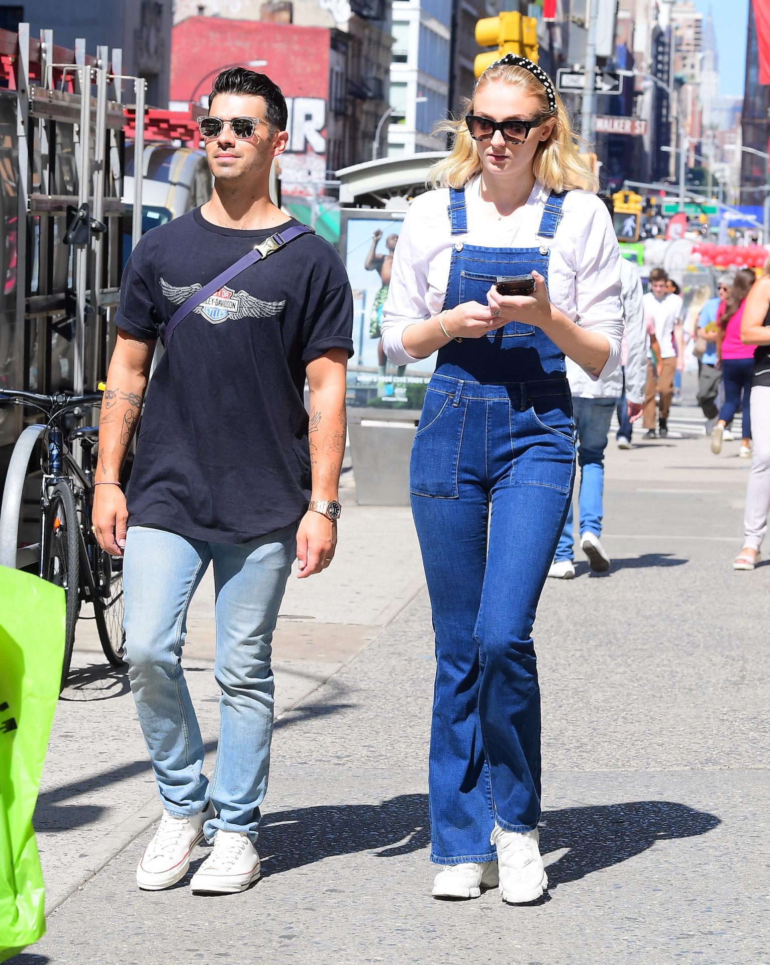 El cantante Joe Jonas y la actriz Sophie Turner en Nueva York.