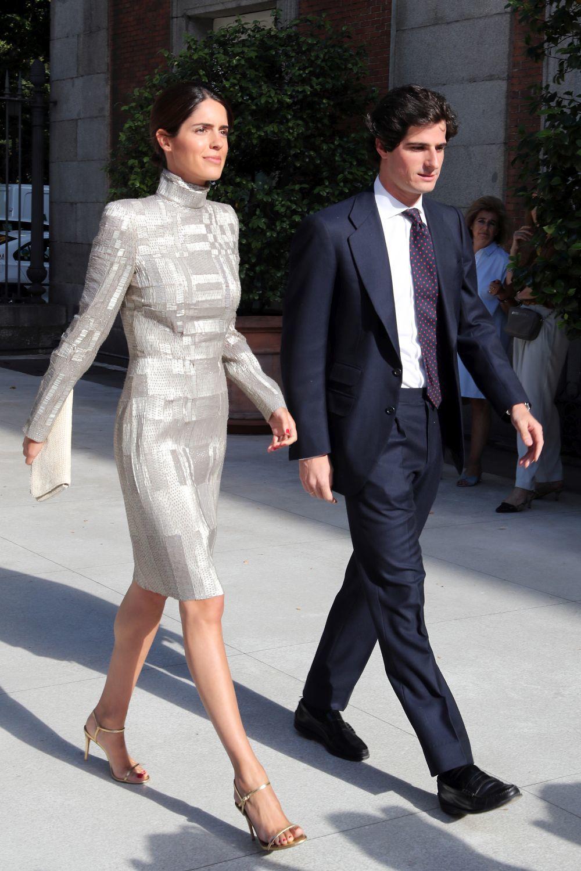 Sofía Palazuelo con un vestido metalizado.