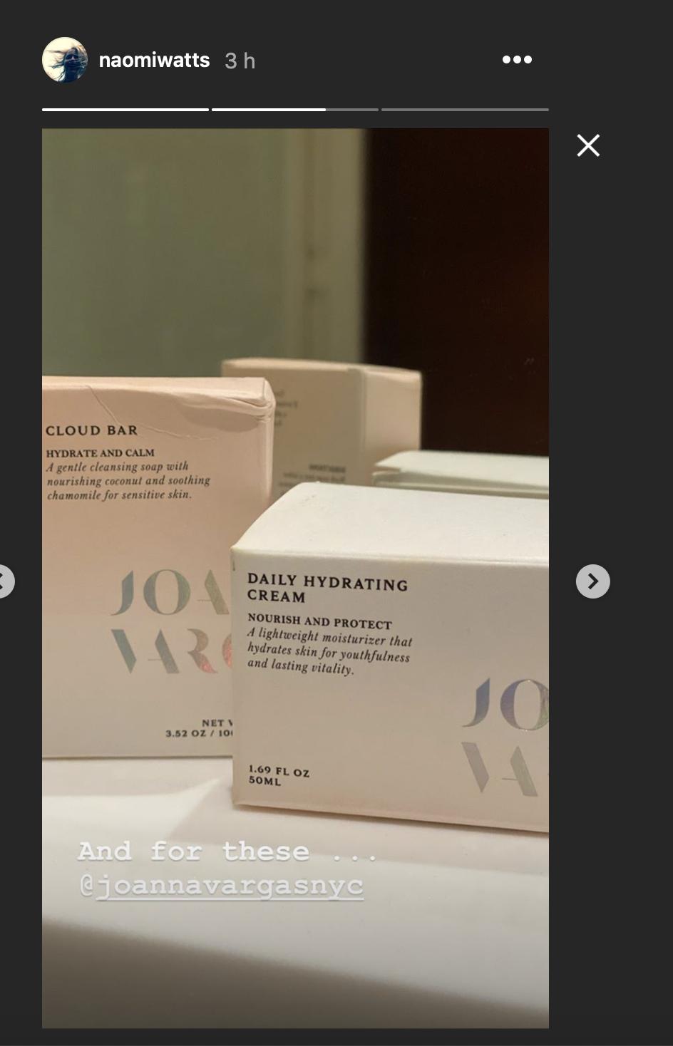 Los productos cosméticos que usa Naomi Watts