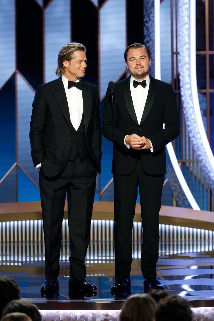 Brad Pitt y Leonardo DiCaprio en la gala de los Globos de Oro 2020.