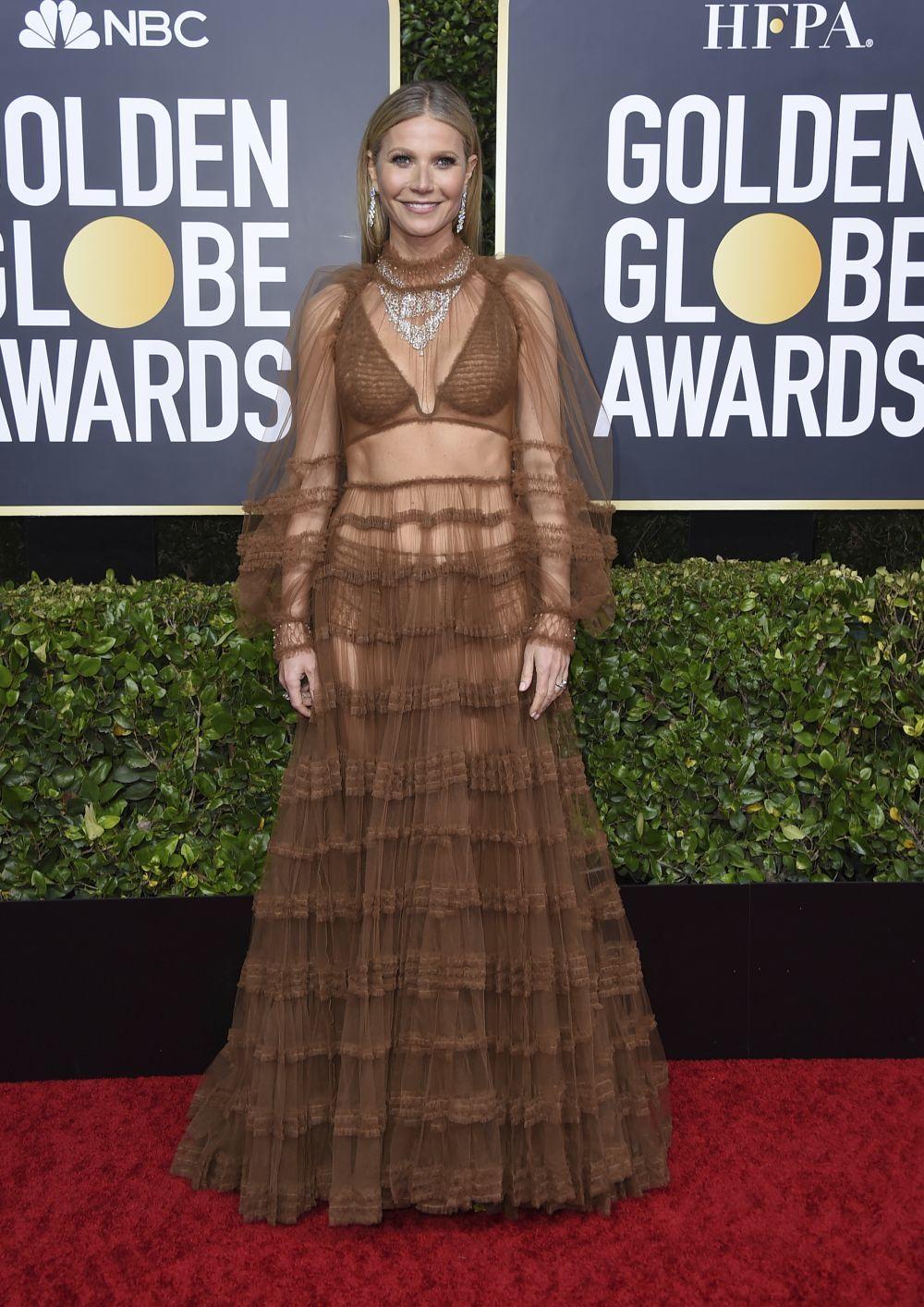Gwyneth Paltrow en los Globos de Oro 2020.