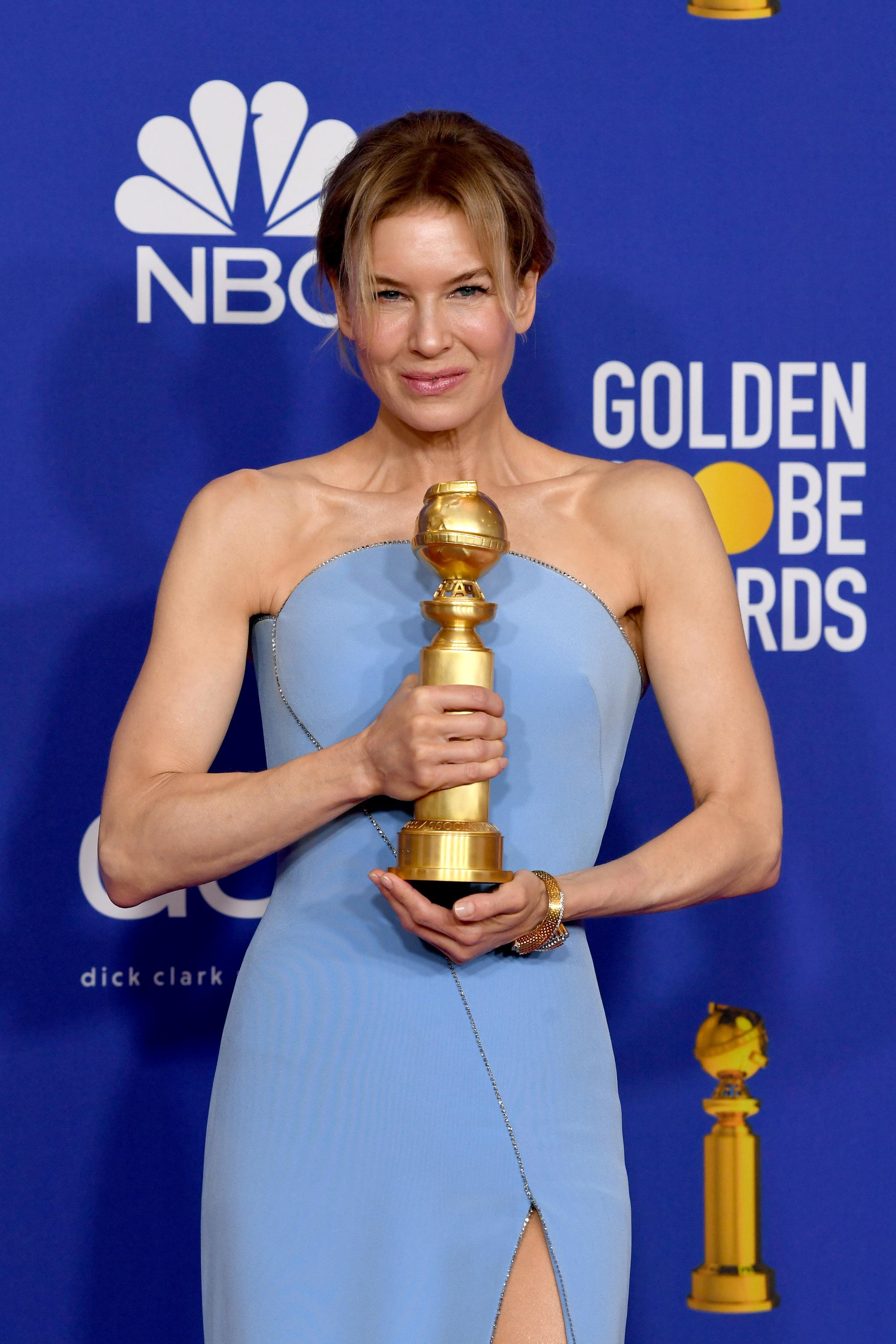 Renée Zellweger gana su cuarto Globo de Oro