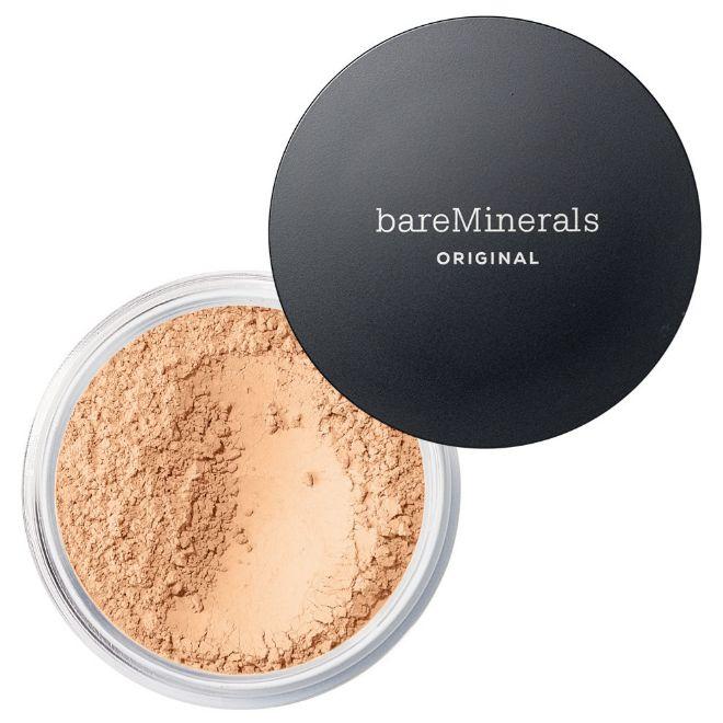 Original Loose Powder Foundation, de bareMinerals (32 euros, en Primor y Arenal). Base de maquillaje con cinco minerales diferentes.