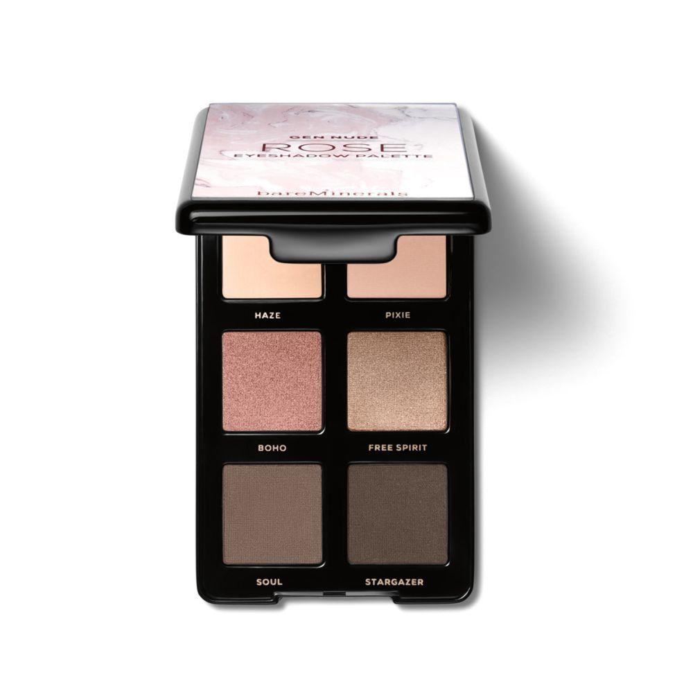 Paleta de sombras de ojos <em>Nude Eyeshadow Rose</em> de <strong>Bare Minerals</strong> (30 euros). A la venta en 30 a la venta en exclusiva en Primor, Arenal y en www.bareminerals.com