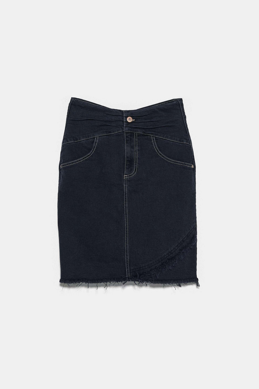 Falda tubo en tejido denim de Zara (12,99¤)