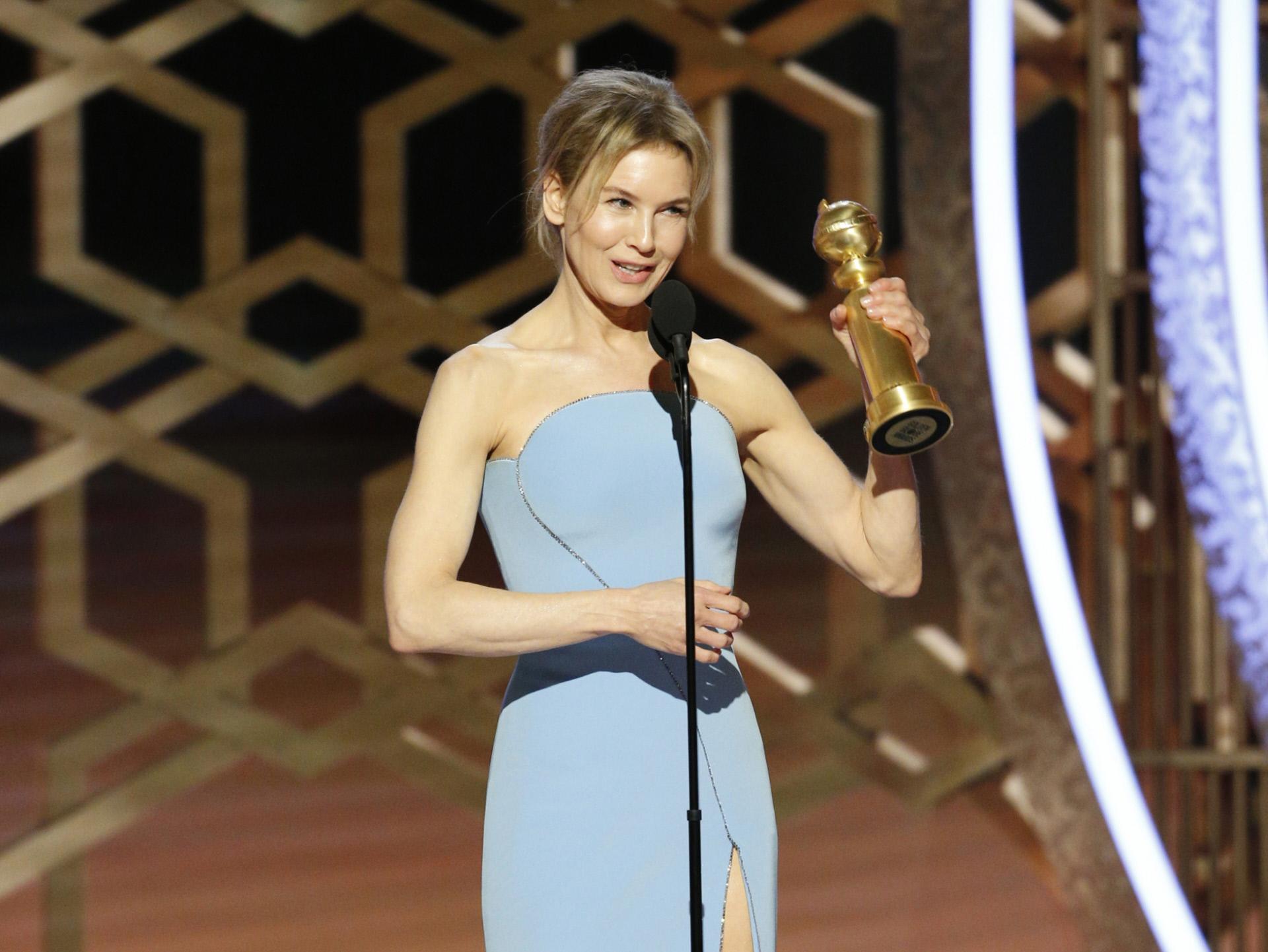 Renée Zellweger en los Globos de Oro 2020.