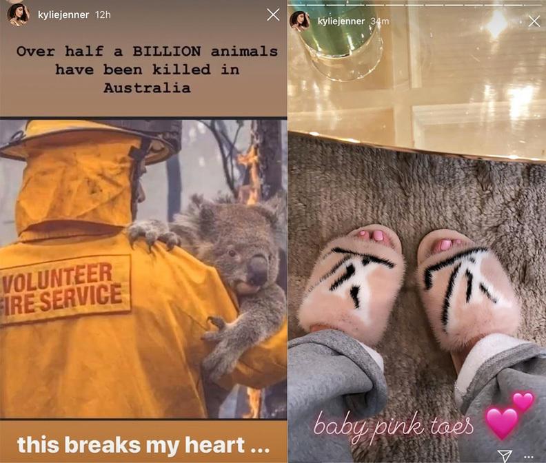 Imágenes de los <em>stories</em> eliminados de su cuenta de Instagram.