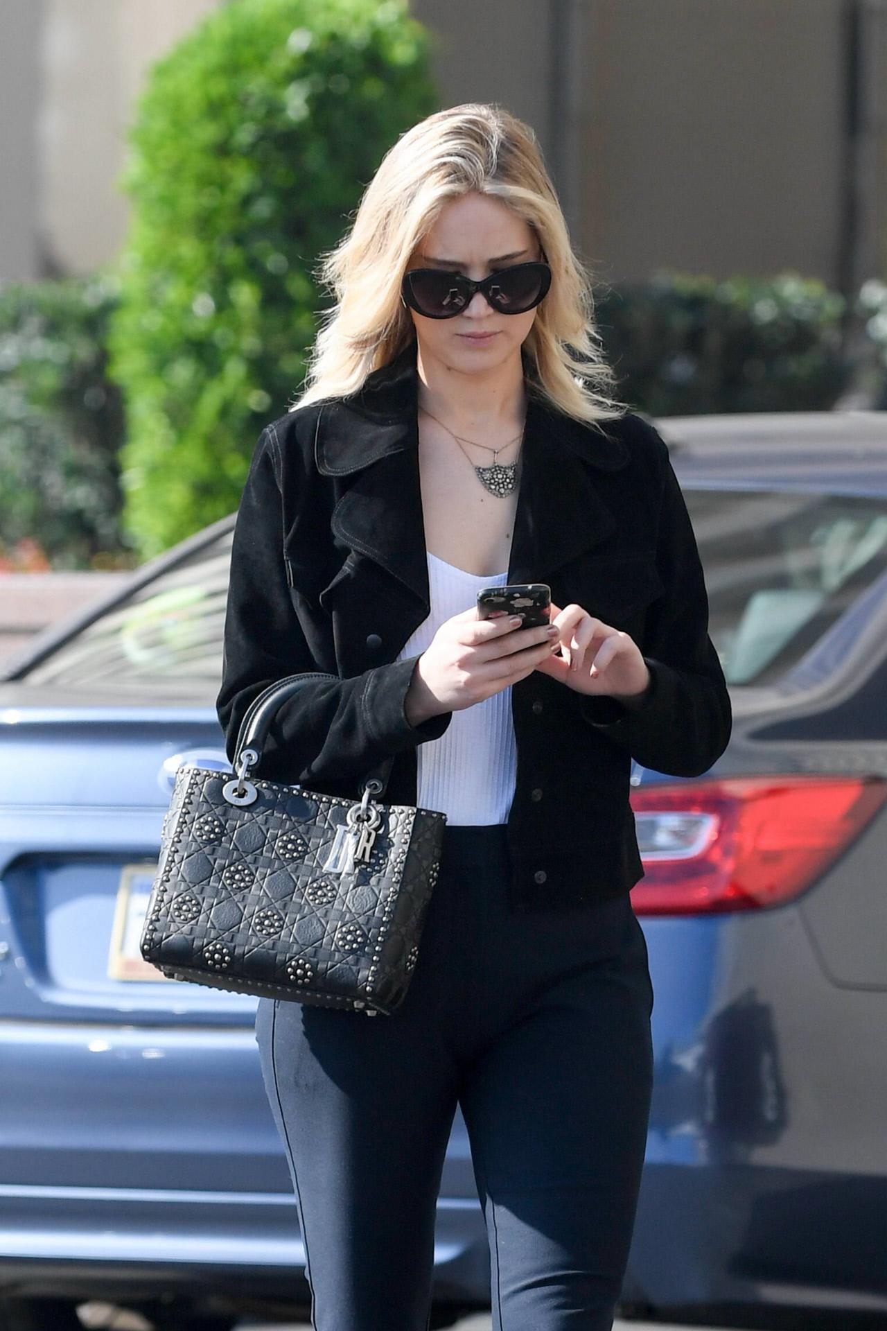 La actriz Jennifer Lawrence en Los Ángeles.