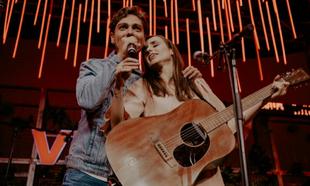 Zahara y Miss Caffeina durante su concierto dentro del ciclo...