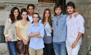 """Los actores de """"El Internado"""" durante la presentación de la..."""