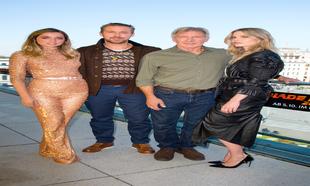Ana de Armas junto a los actores Ryan Gosling, Harrison Ford y Sylvia...