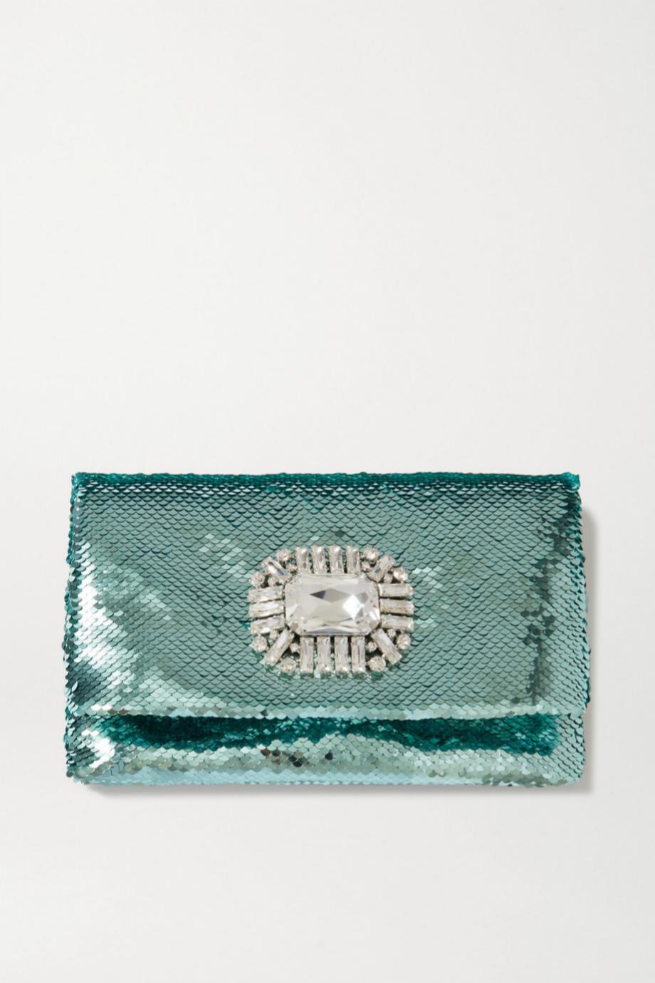 Clutch de paillettes de Jimmy Choo (c.p.v)