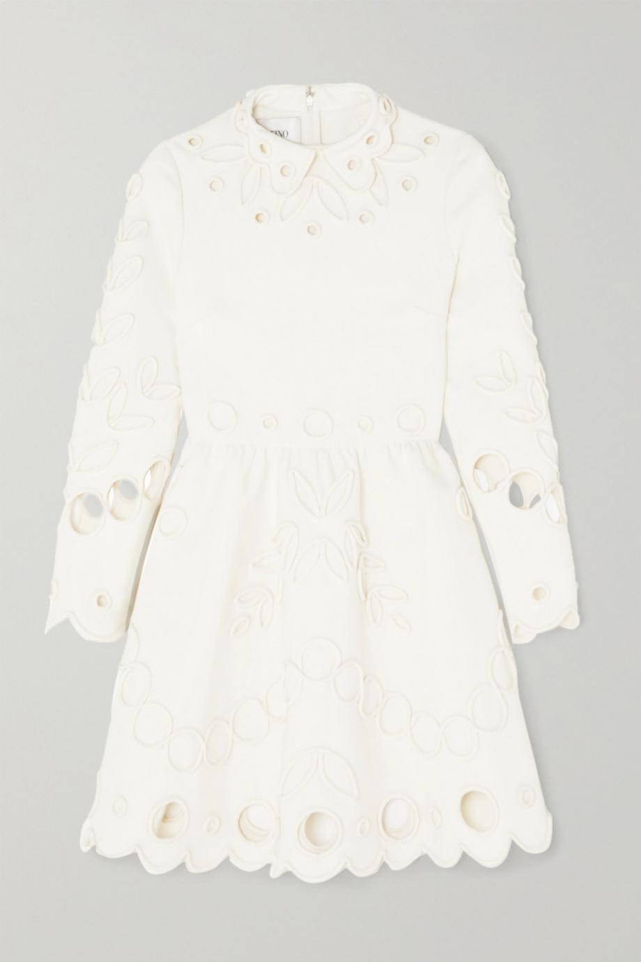 Vestido de manga larga de crepé de Valentino para Net a porter (3.150¤)