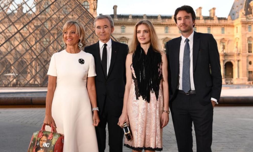 Bernard Arnault con su mujer, Helene Mercier-Arnault, su hijo Antoine...