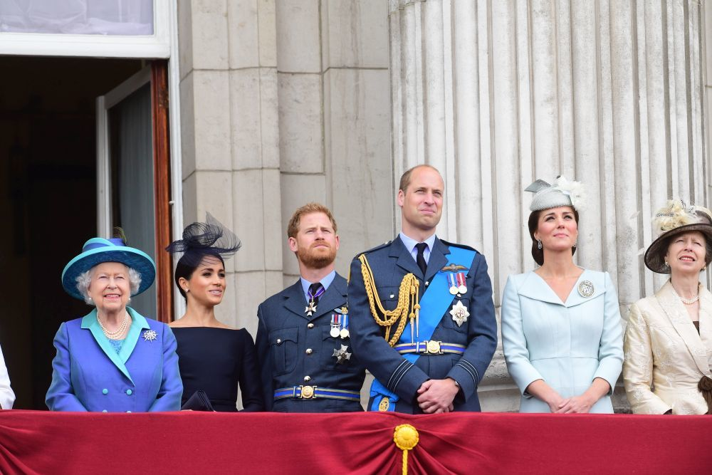 Miembros de la Familia Real Británica.
