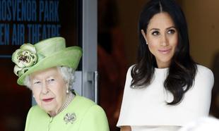 Isabel II junto a Meghan Markle.
